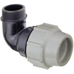 Coude 90° fil. PLASSON 7850 Ø 63 mm G 2
