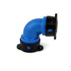 Raccord en coude Blu-Lock ø 15 mm.
