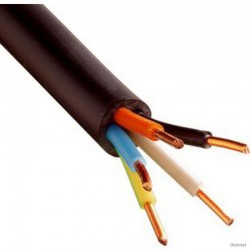 Câble TD 5 X 1mm2 LNPE, noir  25 ML