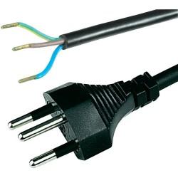 Cordon de raccordement noir type 12, 3 ml de câble