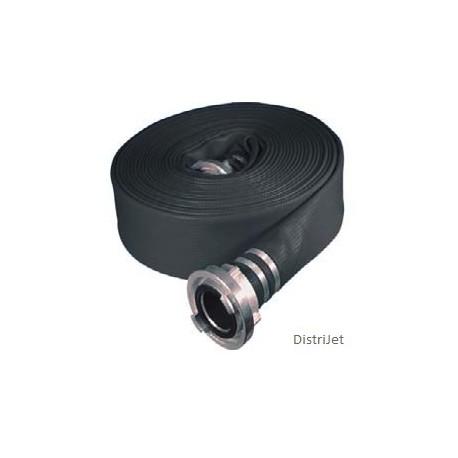 Tuyau Elasto-Tec noir, Ø 52  mm