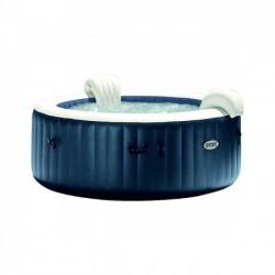 SPA A BULLES LED ROND 4 PLACES BLUE NAVY