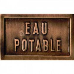 PLAQUE -EAU POTABLE- 14 X 9 CM