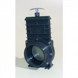 VANNE GUILLOTINE D110 PVC A COLLER