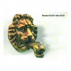 ROSACE LION 15X15CM 0116